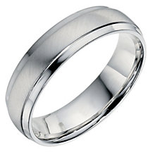 Men's Sterling Silver 5mm Matt & Polished Ring - Product number 9199160