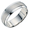 Men's Sterling Silver 7mm Matt & Polished Ring - Product number 9199322