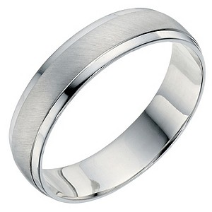 Men 39 S Palladium 950 Matt Polished 5mm Wedding Band H Samuel