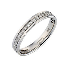 Palladium 950 Channel Set 1/4 Carat Diamond Wedding Ring - Product number 9201068