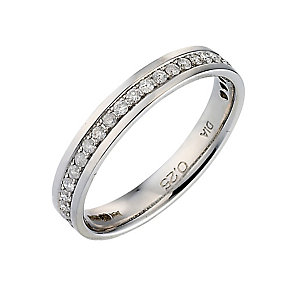 Palladium 950 Channel Set 1/4 Carat Diamond Wedding Ring - Product number 9201068