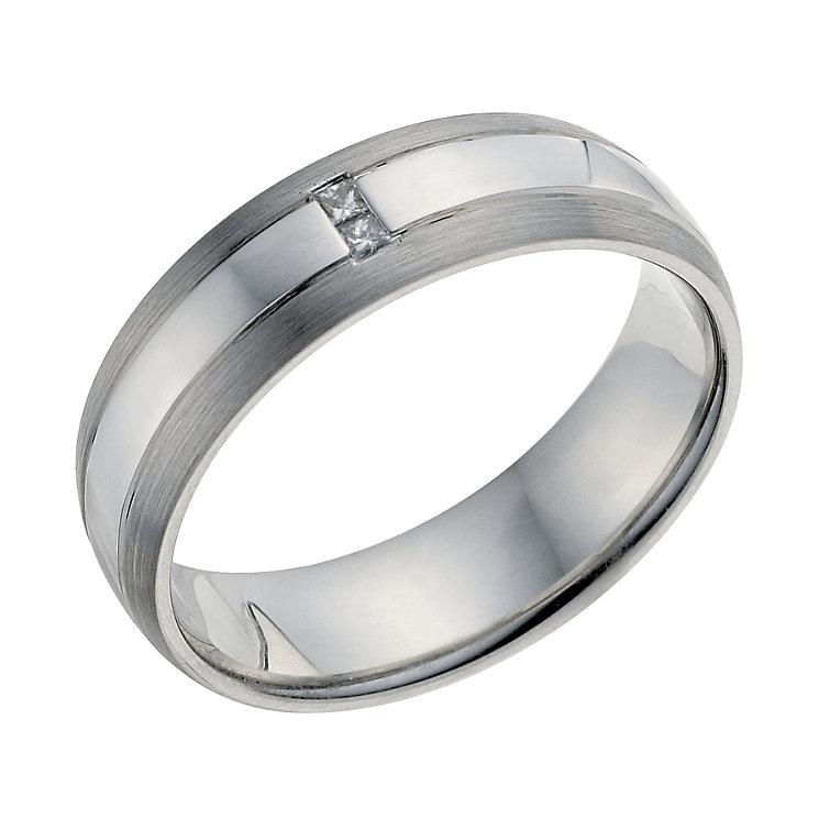 Palladium 950 Men's Diamond Set Wedding Ring - Product number 9201181