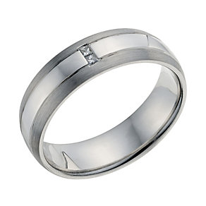 Palladium 950 Men's Diamond Set Wedding Ring - Product number 9201181