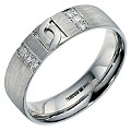 Palladium & Diamond Men's Band - Product number 9201351