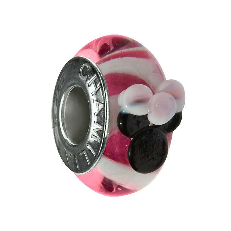 Chamilia - sterling silver pink Minnie Murano bead - Product number 9203826