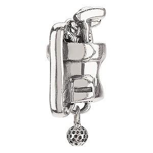 - sterling silver Golf Bag bead