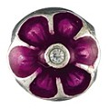 Chamilia silver & purple flower bead - Product number 9203915