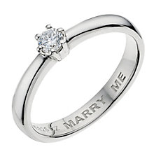 Silver & Platinum Plated Marry Me Ring - Product number 9204113
