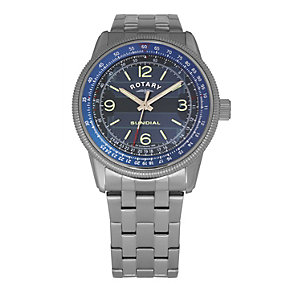 Rotary Exclusive Solar Blue Dial Bracelet Watch - Product number 9204768