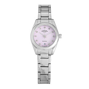 Rotary Ladies' Pink Diamond Set Dial Bracelet Watch - Product number 9204792