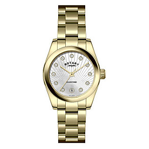 Rotary Ladies' Gold Plated Diamond Watch - Product number 9204814