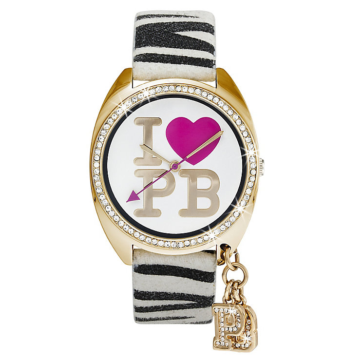 Paul's' Boutique Paris Zebra Print Strap Watch - Product number 9204865
