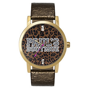 Paul's Boutique Mia Brown Leopard Dial Watch - Product number 9204873