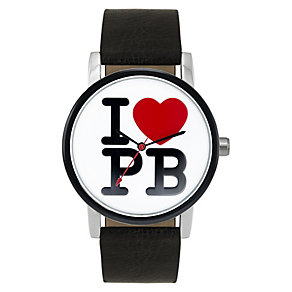 Paul's Boutique Mia Black Strap Logo Watch - Product number 9205136