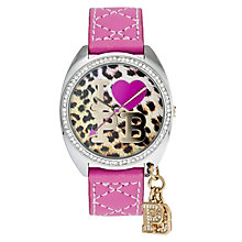 Paul's Boutique Paris Pink Strap Leopard Logo Dial Watch - Product number 9205179