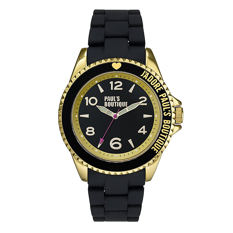 Paul's Boutique Black Strap Watch - Product number 9205276