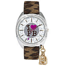 Paul's' Boutique Brown Leopard Strap Charm Watch - Product number 9205306