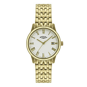 Rotary Men's Gold Plated Bracelet Watch - Product number 9205438