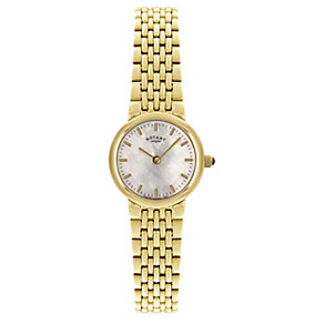 Rotary Ladies' Mother of Pearl Gold Plated Bracelet Watch - Product number 9205799
