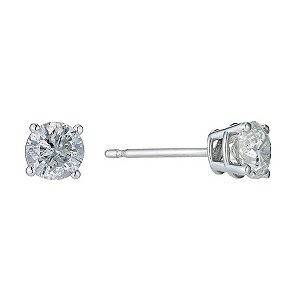9ct White Gold 3/4 Carat Diamond Stud Earrings - Product number 9207120