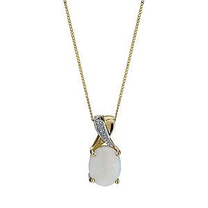 9ct Yellow Gold Opal Pendant - Product number 9207554