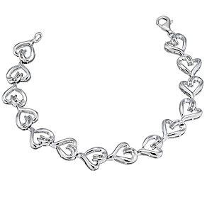 Silver Diamond Heart Bracelet - Product number 9207570