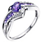 Argentium Silver Diamond & Amethyst Heart Ring - Product number 9208275