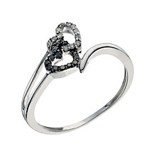 Noir Silver White & Treated Black Diamond Cluster Ring - Product number 9208720
