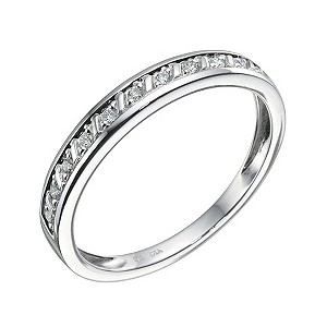 9ct White Gold Diamond Bar Set Eternity Band - Product number 9213074