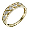 9ct Yellow Gold Diamond Figure Of 8 Ring - Product number 9213945