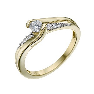 9ct Yellow Gold 0.25 Carat Diamond Solitaire Ring - Product number 9217495