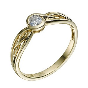 9ct Yellow Gold Diamond Solitaire Ring - Product number 9217762