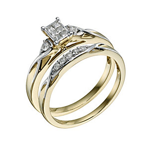 Perfect Fit 9ct Yellow Gold Diamond Bridal Set - Product number 9217894