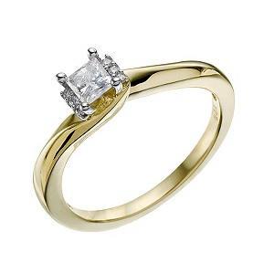 9ct Yellow Gold 0.25 Carat Diamond Solitaire Ring - Product number 9218068