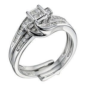 9ct White Gold 0.40 Carat Diamond Bridal Set Ring - Product number 9220461