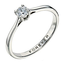 Palladium 950 1/4 Carat Forever Diamond Ring - Product number 9221018