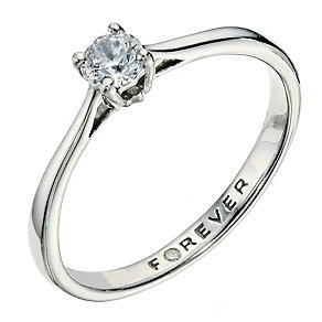 The Forever Diamond Palladium 950 1/4 Carat Diamond Ring - Product number 9221018