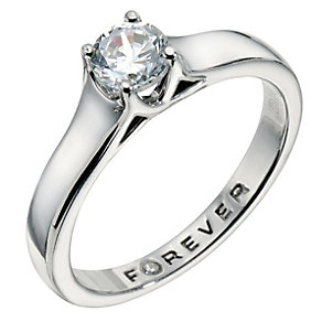 The Forever Diamond  Palladium 950 1/4 Carat Diamond Ring - Product number 9221131