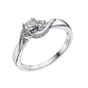 18ct White Gold 0.33 Carat Diamond Solitaire Ring - Product number 9221409
