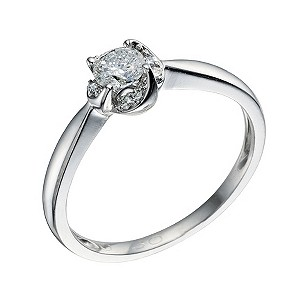 18ct White Gold 0.30 Carat Diamond Solitaire Ring - Product number 9221921