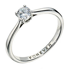Palladium 950 1/3 Carat Forever Diamond Ring - Product number 9222715