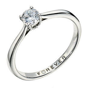 The Forever Diamond Palladium 950 1/3 Carat Diamond Ring - Product number 9222715