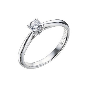 The Forever Diamond -18ct White Gold 0.33 Carat Diamond Ring - Product number 9224165