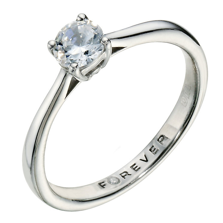 The Forever Diamond Palladium 950 0.50 Carat Diamond Ring - Product number 9224432