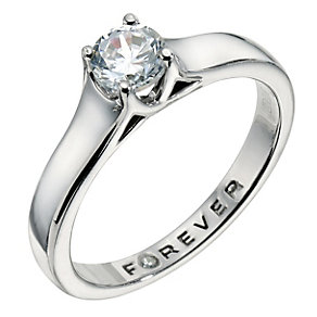 The Forever Diamond Palladium 950 1/2 Carat Diamond Ring - Product number 9224564