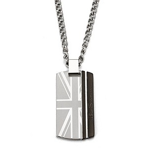 Ben Sherman Men's Stainless Steel Union Jack Dog Tag - Product number 9225307