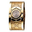 Gucci ladies' gold plated GG bangle watch - Product number 9226265