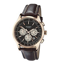 Sekonda Men's Brown Leather Strap Chronograph Watch - Product number 9230157