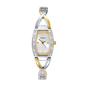 Sekonda Ladies' Two Tone Stone Set Watch - Product number 9230203