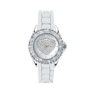 Sekonda Party Time White Stone Set Heart Watch - Product number 9230300